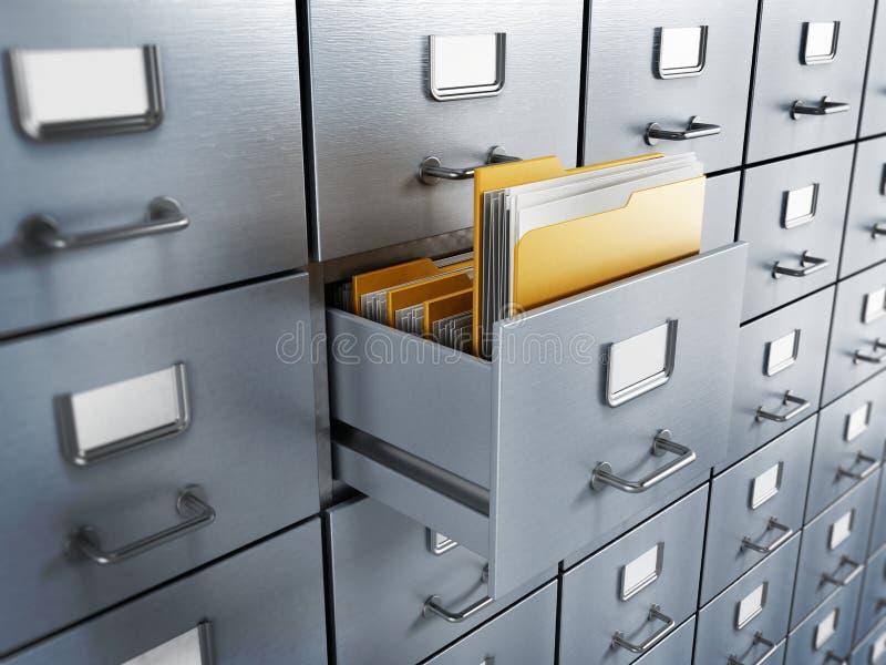 档案橱柜 免版税库存照片