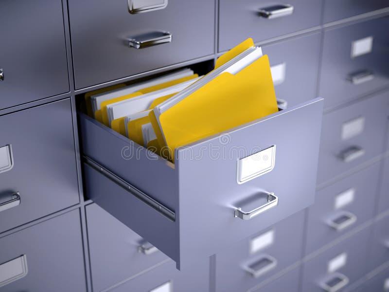 档案橱柜 皇族释放例证