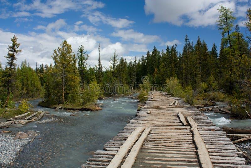 桥梁。 被毁坏的桥梁。 库存照片