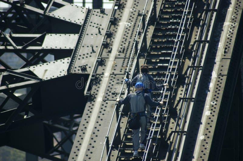 桥梁上升港口悉尼 免版税库存照片