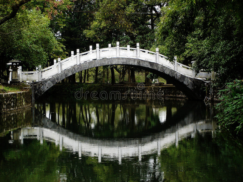 桥梁中国反映s 库存照片