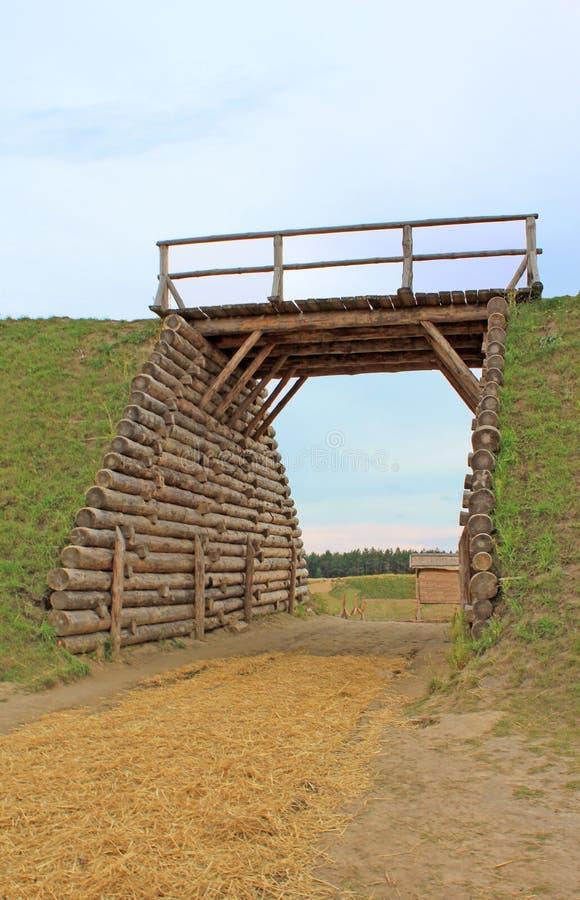 桥梁入口 免版税图库摄影