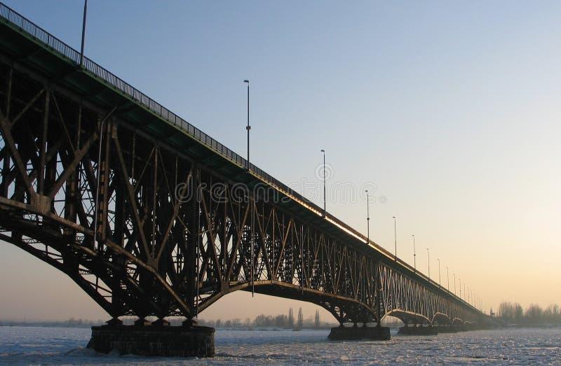 桥梁冬天 免版税图库摄影