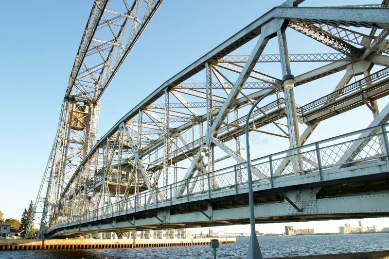 桥梁凹道钢 库存图片