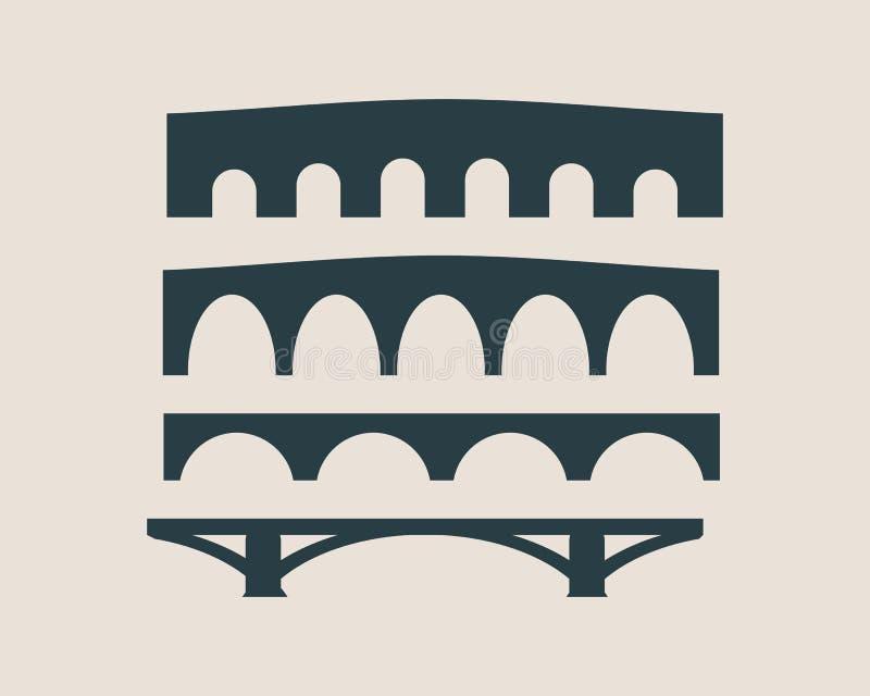 桥梁剪影 动画片例证鼠标被设置的向量 皇族释放例证