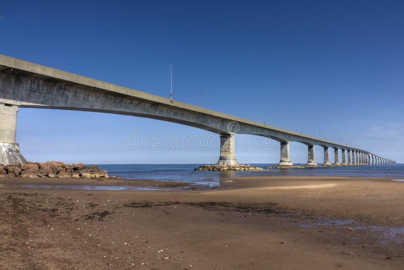 桥梁加拿大联邦pei 免版税库存照片