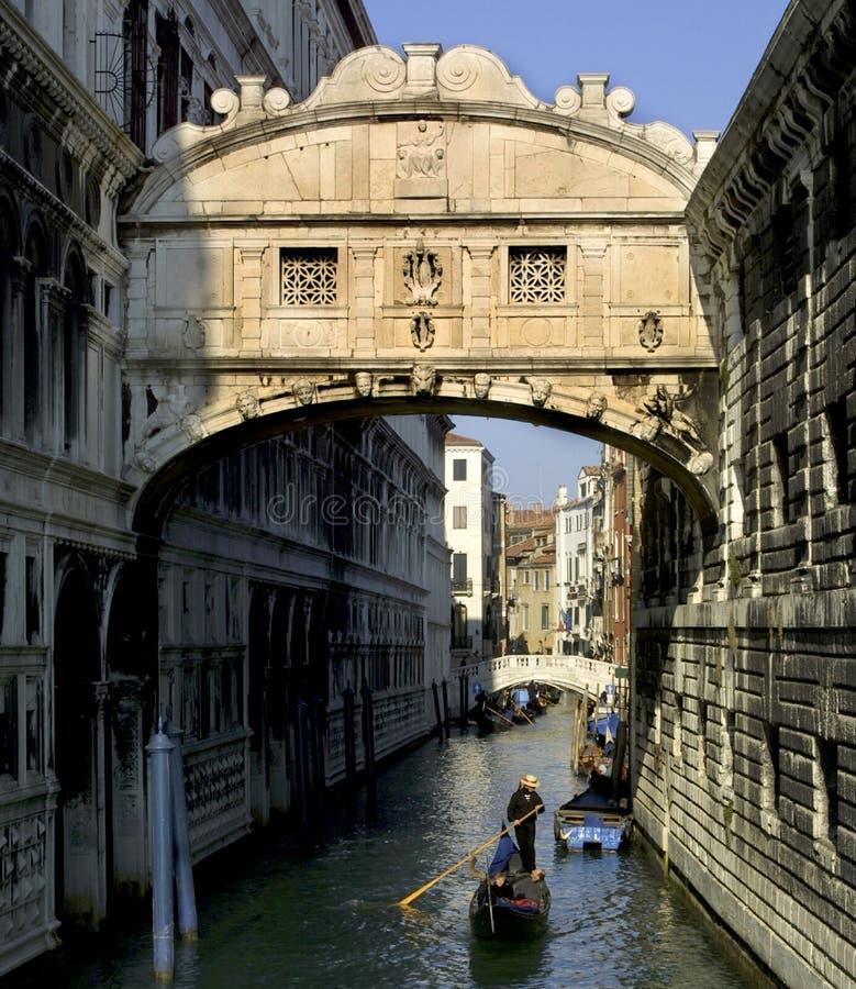 桥梁叹气威尼斯 免版税库存图片