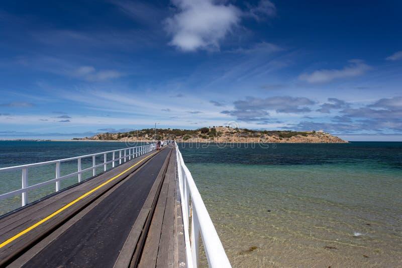 桥梁向花岗岩岛,南澳大利亚 库存照片