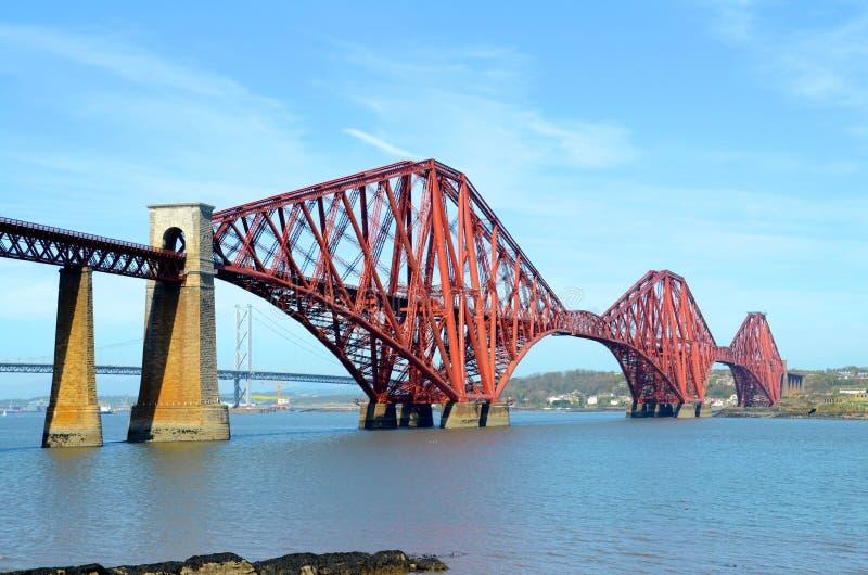 桥梁和路轨桥梁 免版税图库摄影