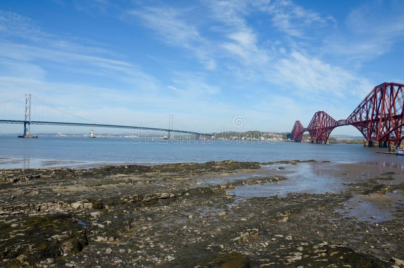 桥梁和路轨桥梁 库存照片