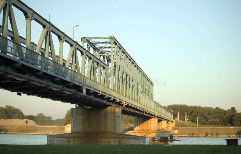 桥梁哀伤多瑙河的novi 免版税图库摄影