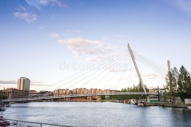 桥梁在坦佩雷,芬兰 图库摄影