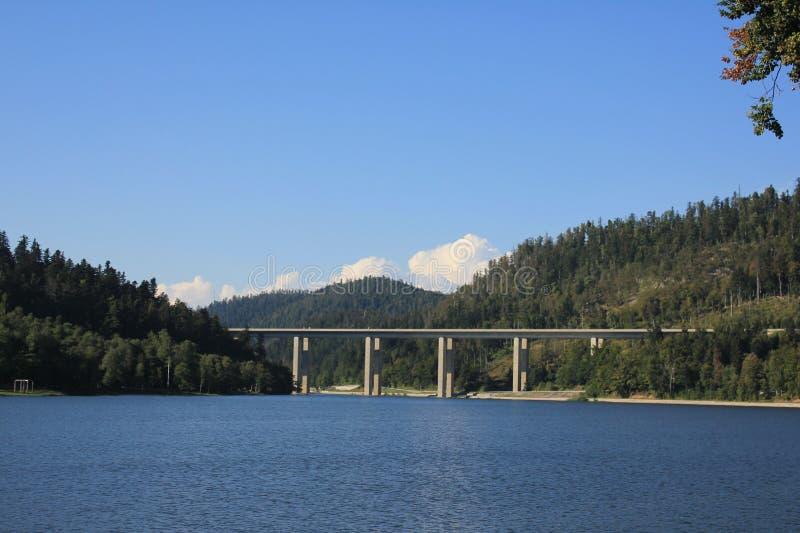 桥梁在山乡下 图库摄影