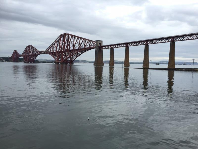 桥梁在峡湾  免版税图库摄影