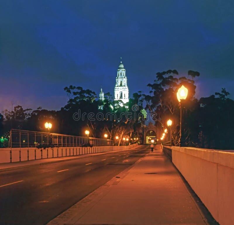 桥梁在巴波亚公园,圣地亚哥 免版税图库摄影