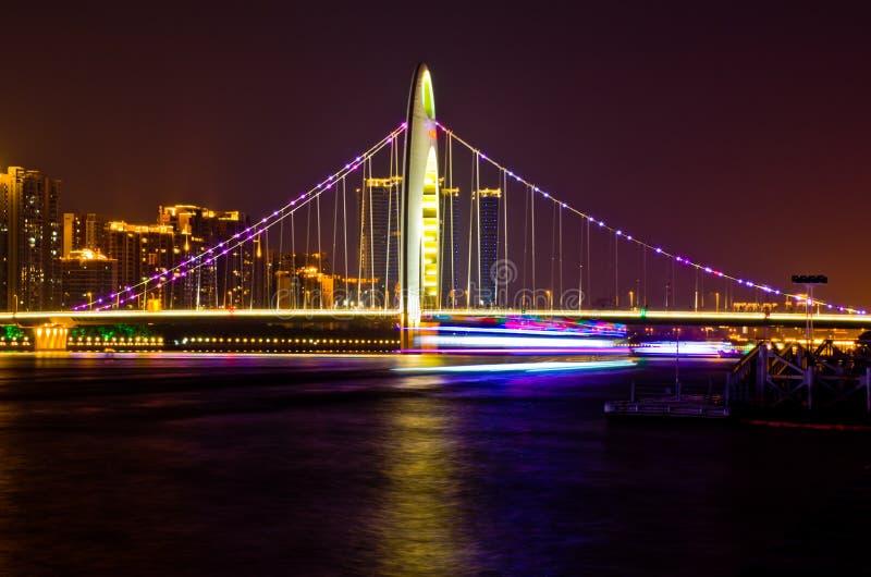 桥梁在广州 库存照片