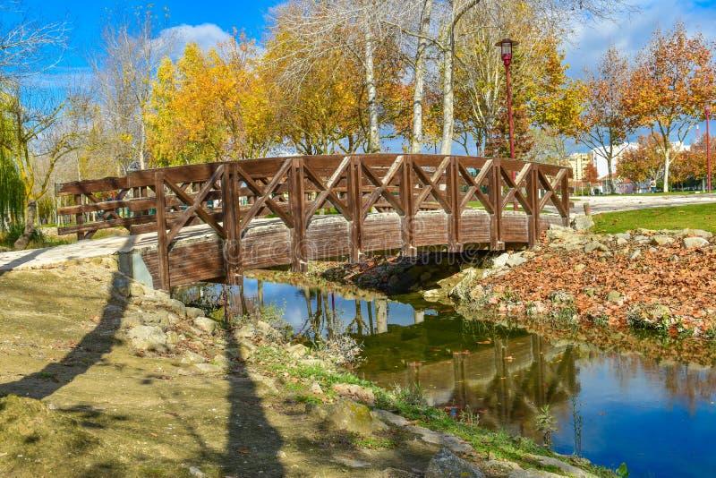 桥梁在托里斯Vedras,葡萄牙 库存图片