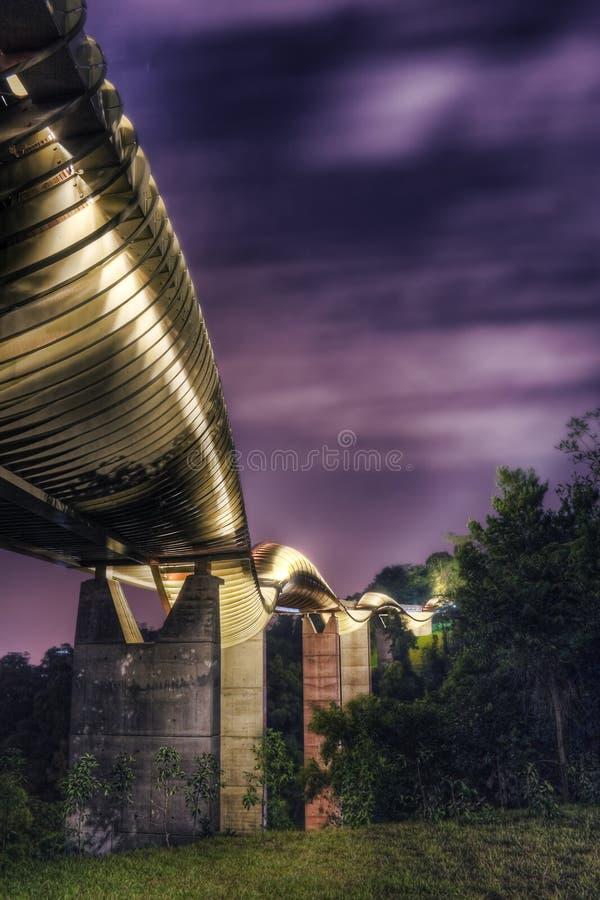 桥梁在新加坡: 汉德尔逊通知 库存照片