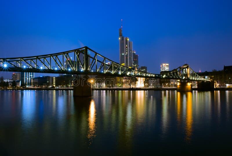 桥梁在法兰克福,德国 库存照片
