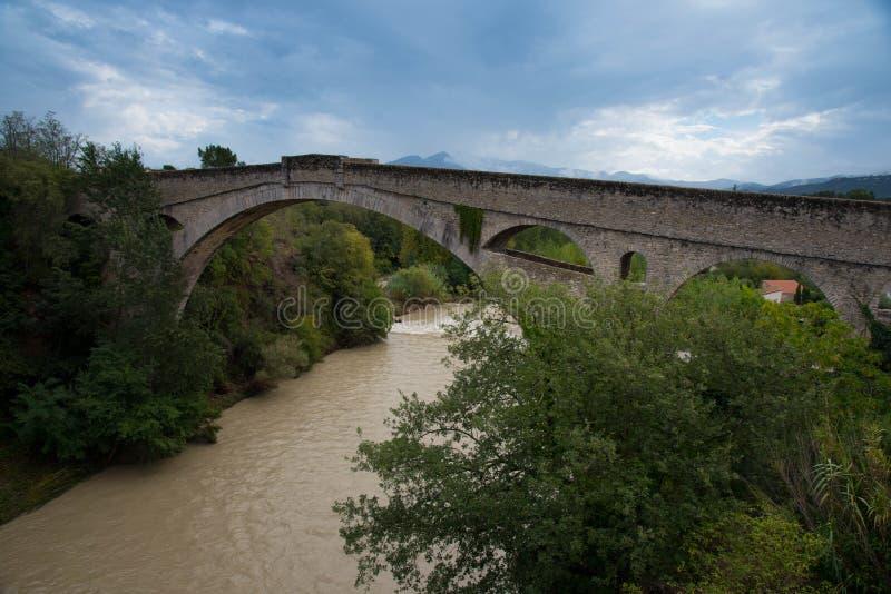 桥梁在法国的南部的Ceret 免版税图库摄影