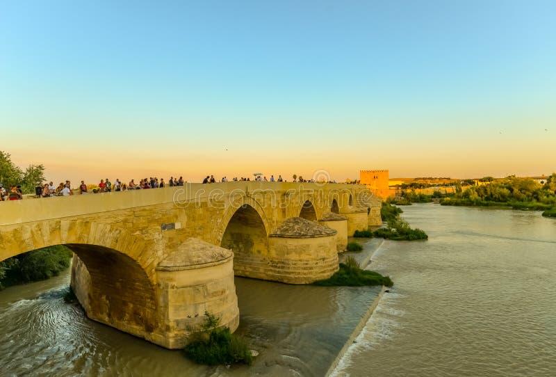 桥梁在科多巴-西班牙 库存照片
