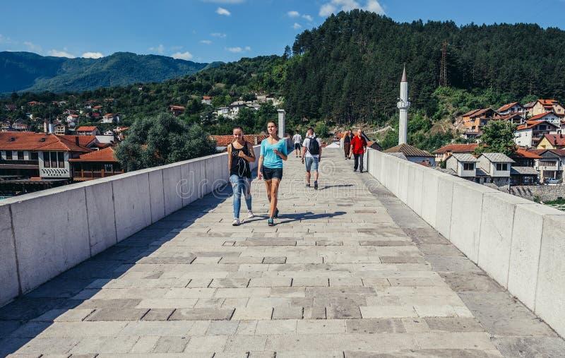 桥梁在科尼茨 免版税库存图片