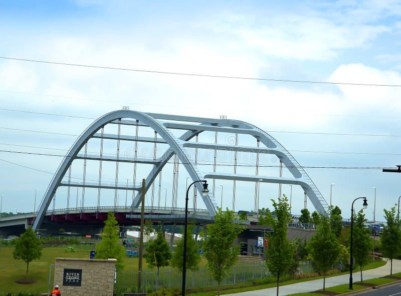 桥梁在纳稀威田纳西美国 库存图片