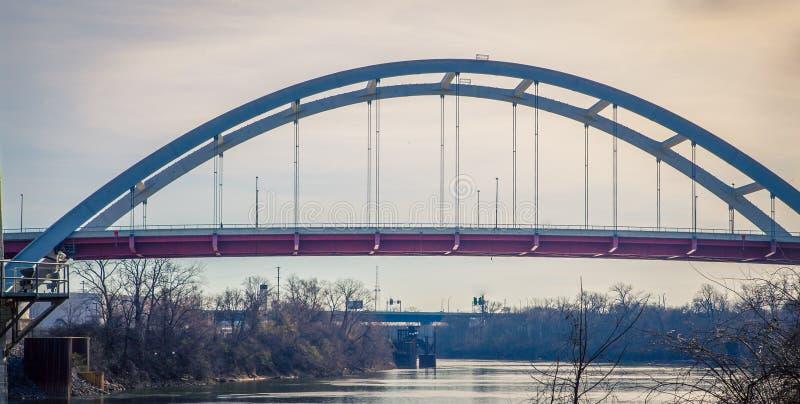 桥梁在纳稀威田纳西 免版税图库摄影