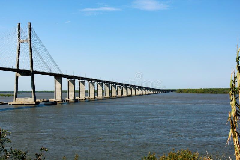 桥梁在罗萨里奥,阿根廷 库存图片