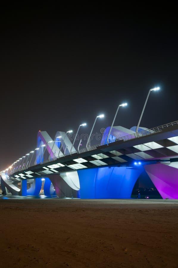 桥梁在阿布扎比 库存照片