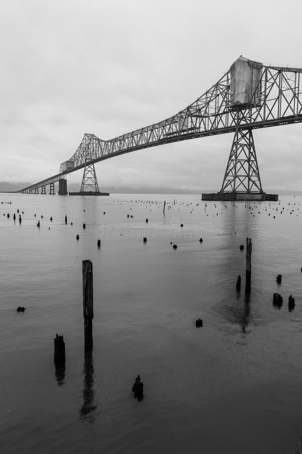 桥梁在Astoria,俄勒冈 图库摄影