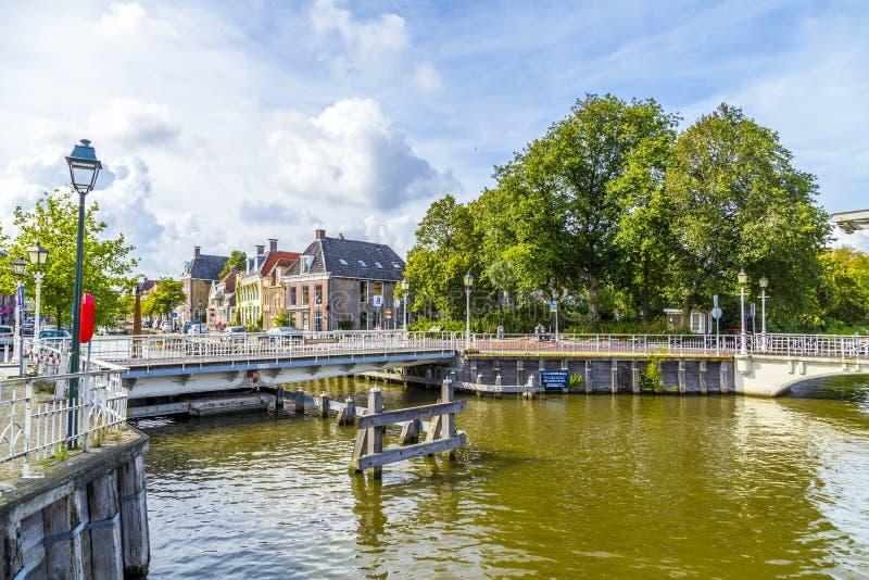 桥梁在Harlingen,荷兰 库存图片