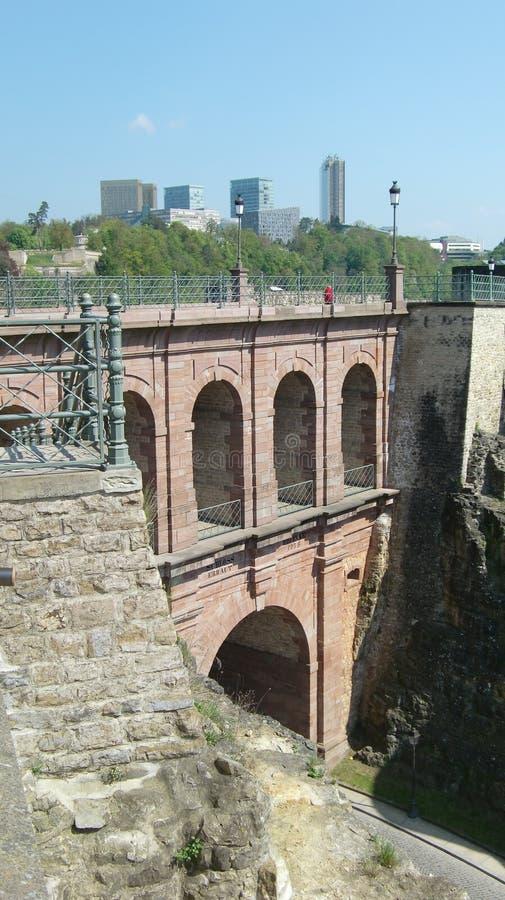 桥梁城堡卢森堡 图库摄影