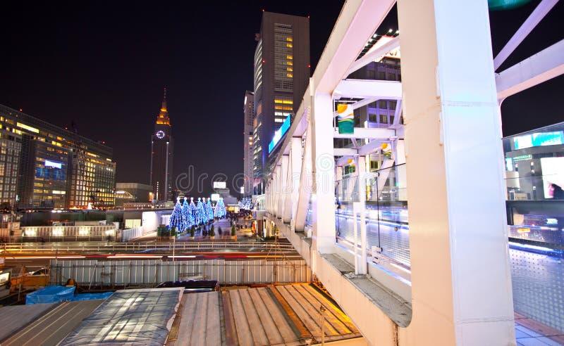 桥梁城市晚上东京 免版税图库摄影