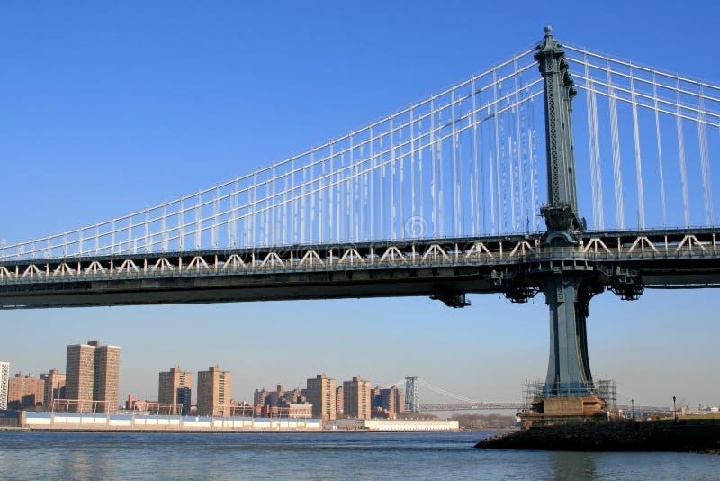 桥梁城市曼哈顿纽约 免版税库存照片