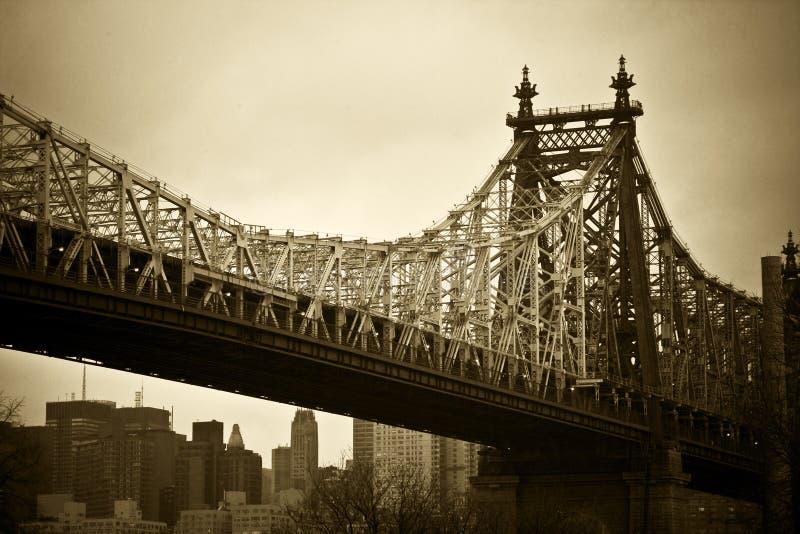 桥梁城市纽约 库存图片