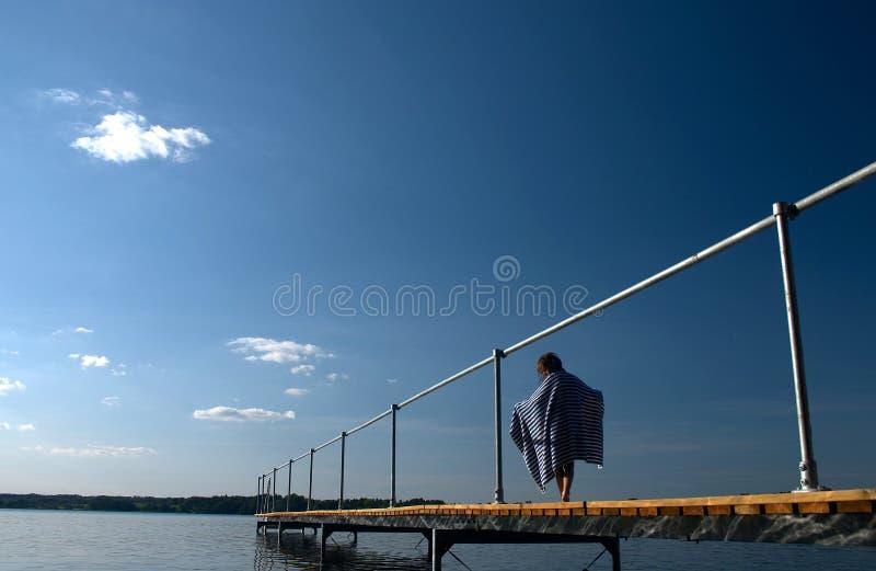 桥梁夏天 库存图片