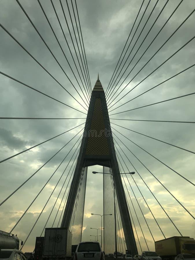 桥梁大修造 库存照片