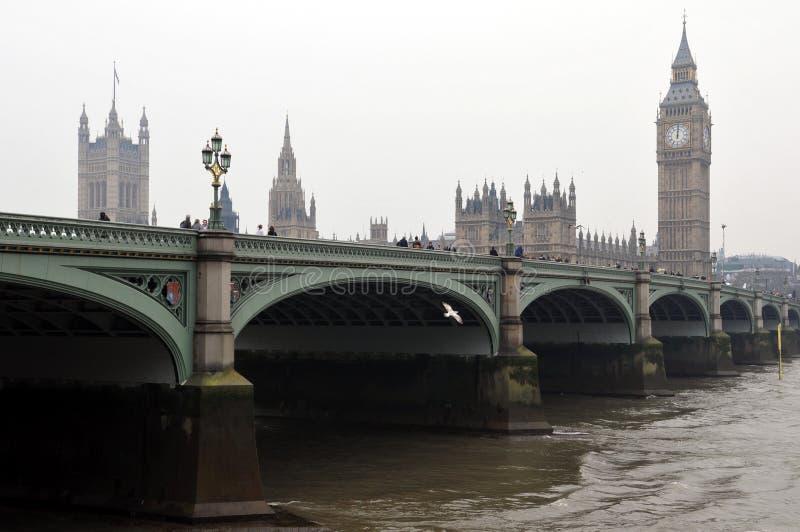 桥梁威斯敏斯特 库存照片