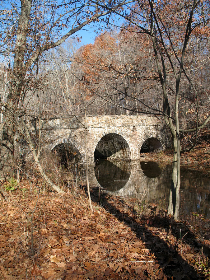 桥梁宾夕法尼亚石头 免版税库存照片