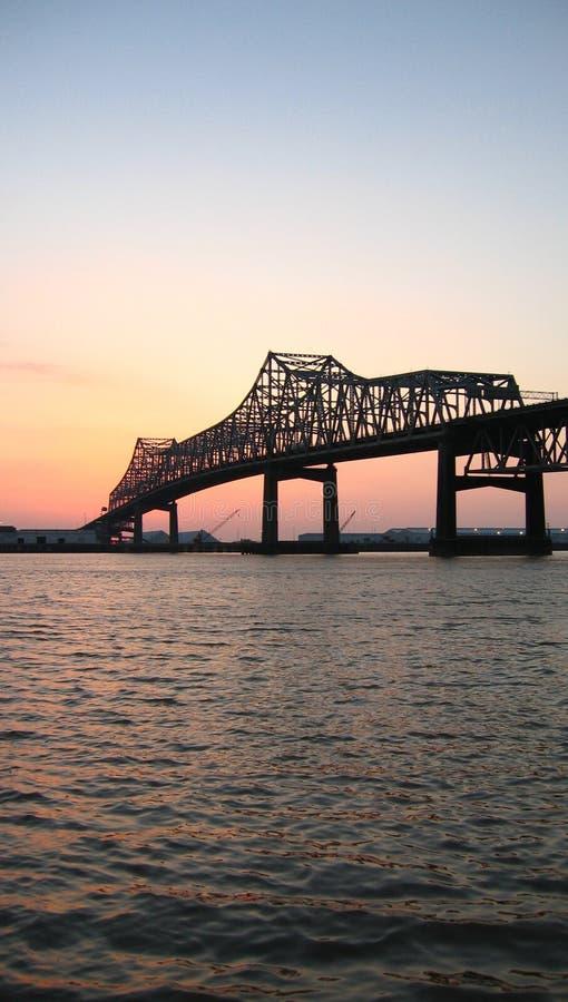 桥梁密西西比河 库存图片