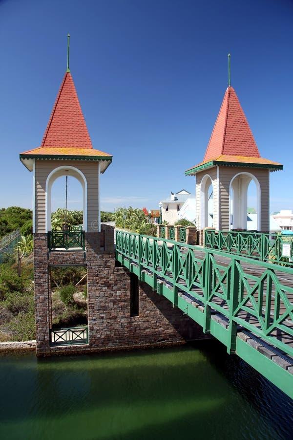 桥梁小的塔 库存照片