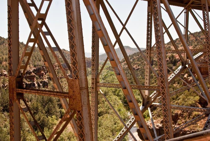 桥梁峡谷小河橡木 免版税库存照片
