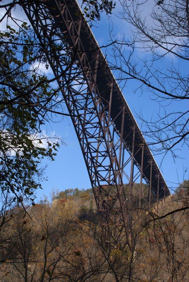 桥梁峡谷新的河 免版税库存照片