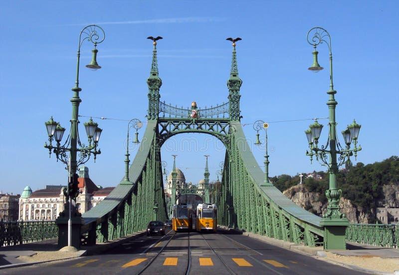 桥梁布达佩斯匈牙利自由 库存照片