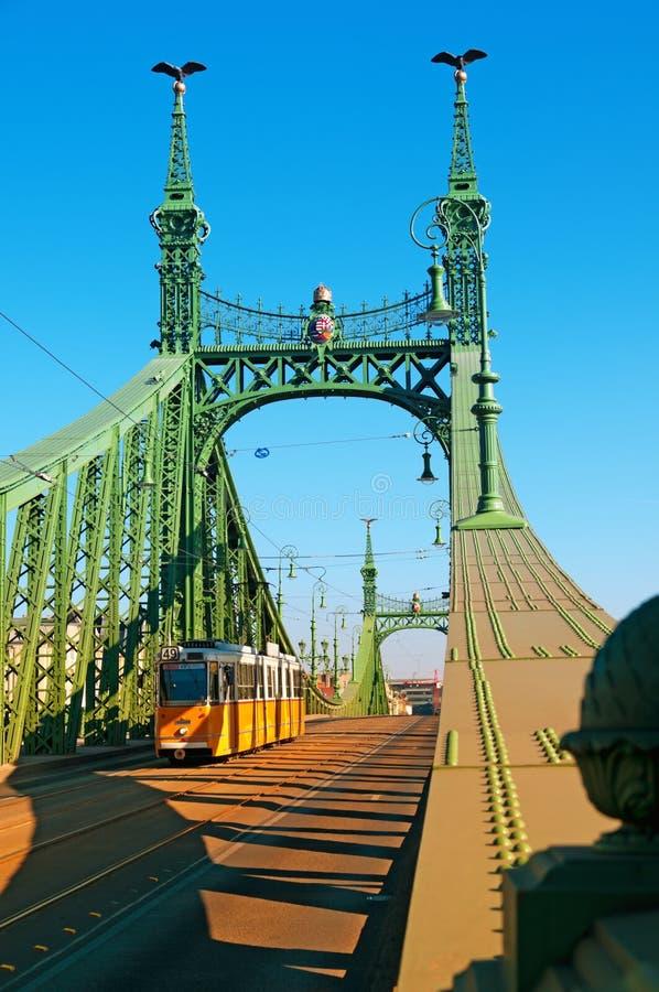 桥梁布达佩斯匈牙利自由 免版税库存图片