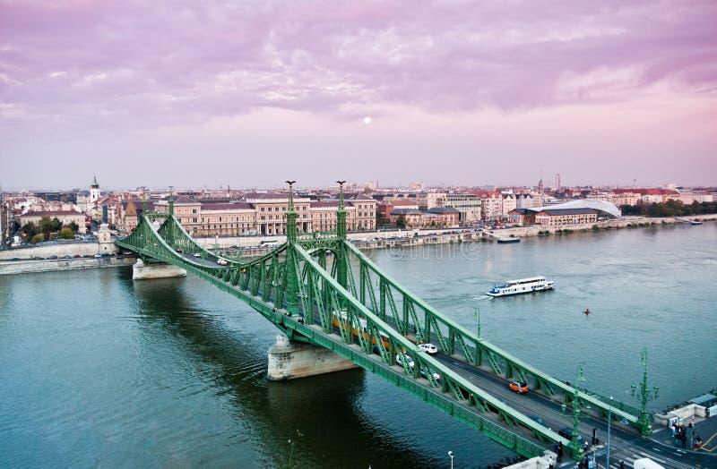 桥梁布达佩斯自由 免版税图库摄影