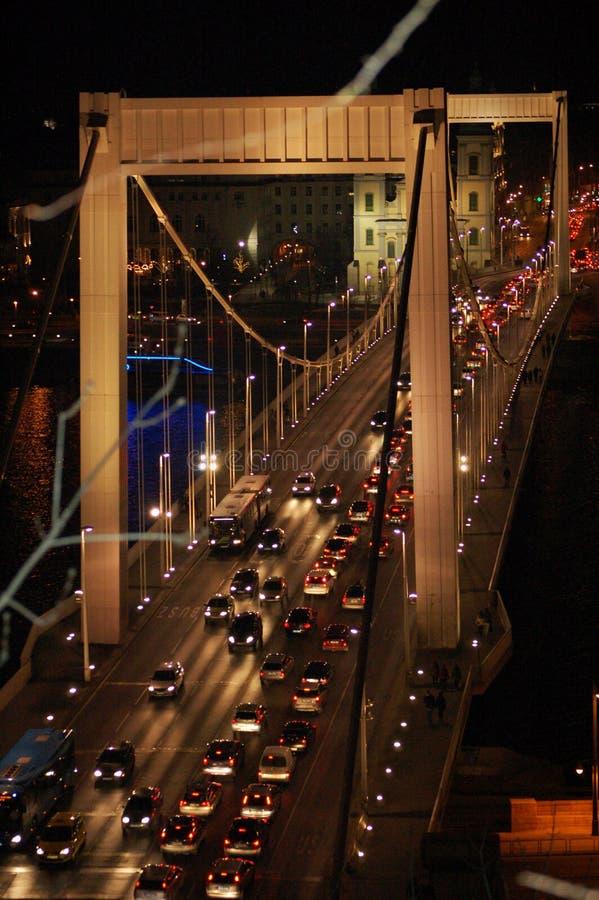 桥梁布达佩斯elisabeth 库存照片