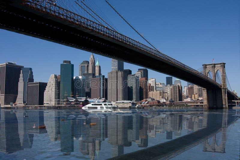 桥梁布鲁克林市曼哈顿纽约 免版税库存图片