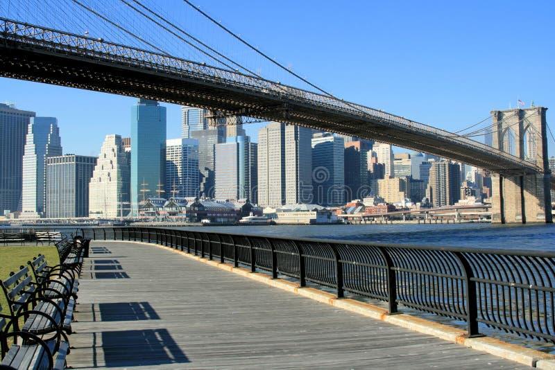 桥梁布鲁克林曼哈顿地平线 免版税库存图片
